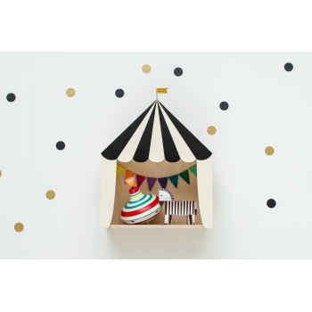 Circus Shelf 'Big Top' Black & White