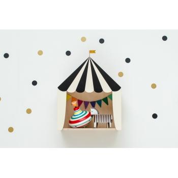 Circus Shelf 'Big Top' Black & White