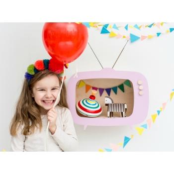 Television Shelf Teevee Pink