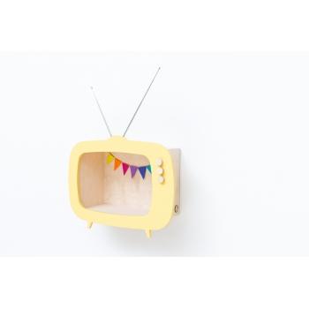 Television Shelf Teevee Yellow