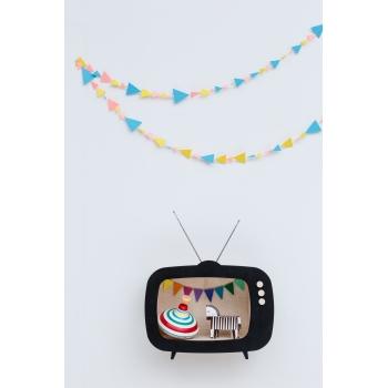 Television Shelf Teevee Black