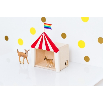 Mini Circus Shadow Box 'Big Top' Red & White