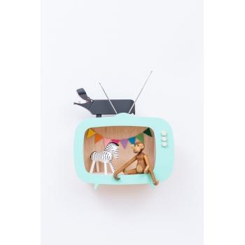Television Shelf Teevee Mint Green
