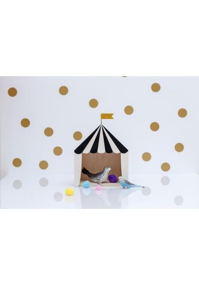 Mini Circus Shadow Box 'Big Top' Black & White