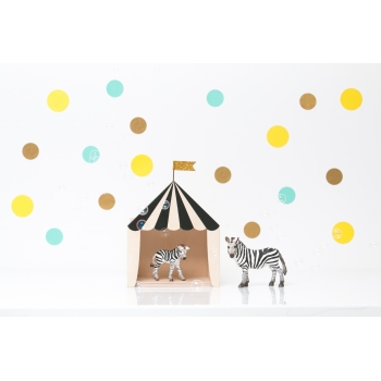 Mini Circus Shadow Box 'Big Top' Black & White