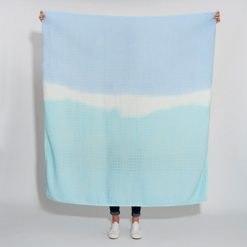 Duck Egg Blue Luxury Scarf Swaddle