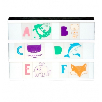 Lightbox letter set - ABC pastel