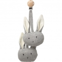 Rosa Grey Rabbit Pram Toy