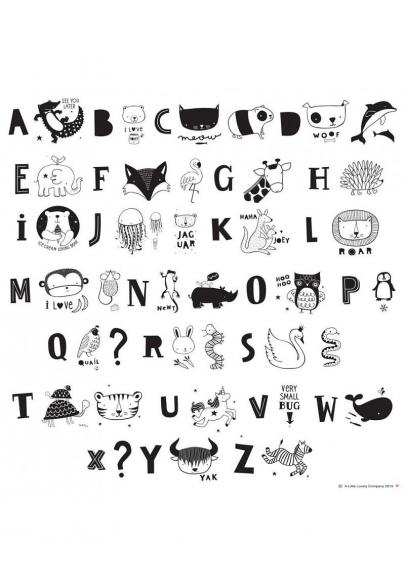 Lightbox letter set - ABC Black