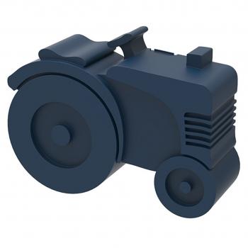 Dark Blue Tractor Lunch Box