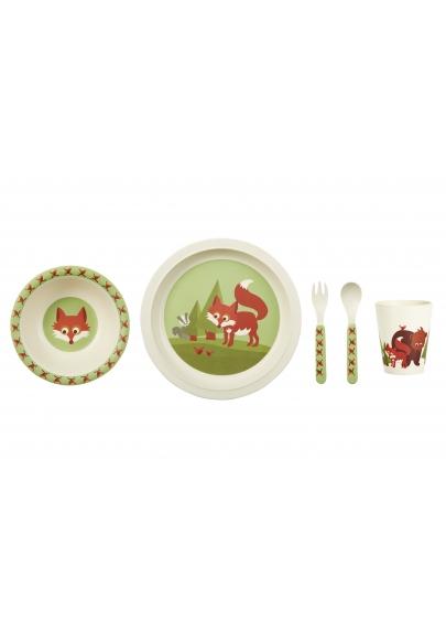 Fox Bamboo Dinner Set