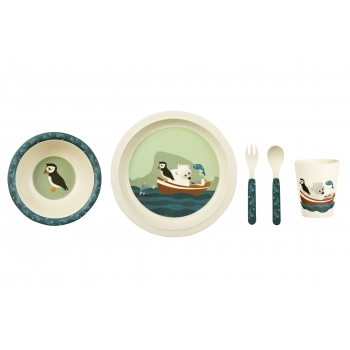 Puffin Bamboo Dinner Set