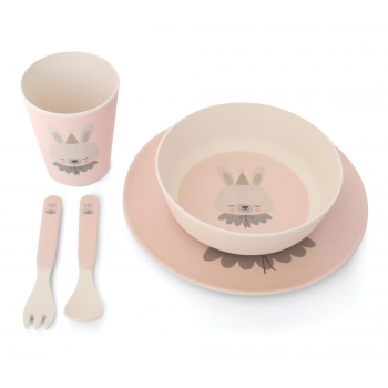 Circus Bunny Bamboo Dinner Set
