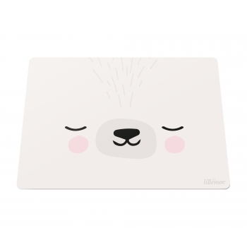 White Circus Bunny Placemat