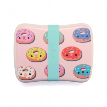 Pink Donut Bamboo Lunch Box