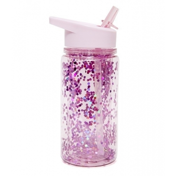 Pink Glitter Water Bottle