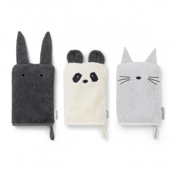 Rabbit / Cat / Panda Washcloth 3 pack - Sylvester