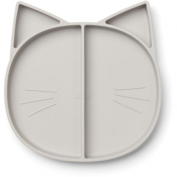 Maddox Silicone Multi Plate Cat Dumbo Grey