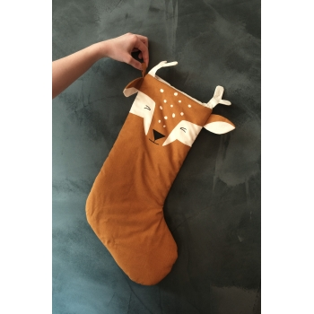 Silly Fawn Christmas Stocking