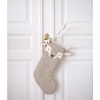 Sleepy Deer Christmas Stocking