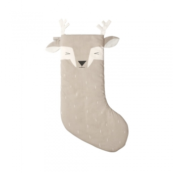 Sleepy Deer Christmas Stocking
