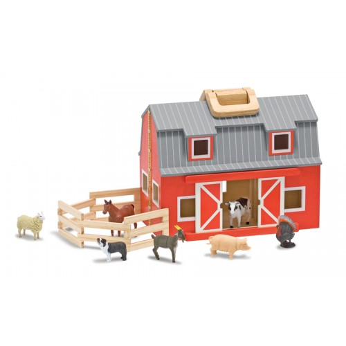 Fold & Go Barn Dollhouse