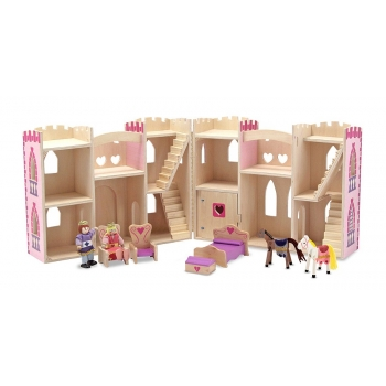 Fold & Go Princess Castle Dollhouse