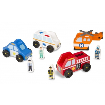 Emergency Toy Car Set