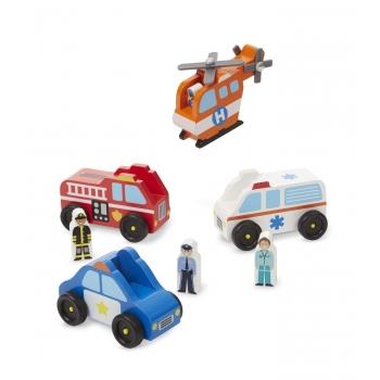 Emergency Toy Car Set