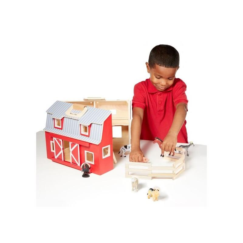 Fold Go Barn Dollhouse Melissa Doug Heylittlebaby