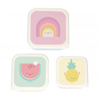 Lunch box Aloha Rainbow - Set of 3