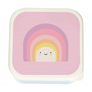 Lunch box Aloha Rainbow - Set of 3