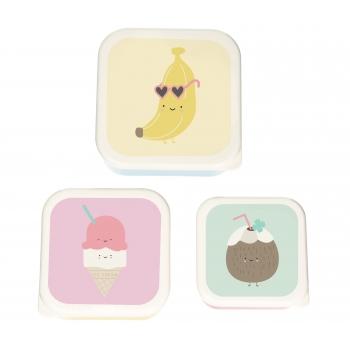Lunch box Aloha Banana - Set of 3