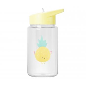 Yellow Water Bottle Aloha Pineapple