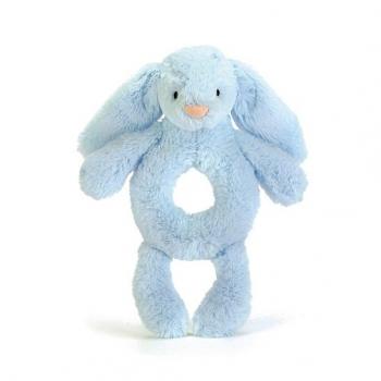 Bashful Blue Bunny Grabber Rattle