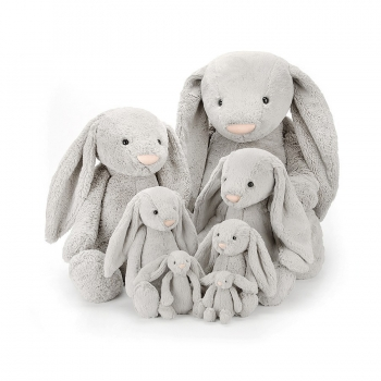 Bashful Silver Bunny Medium Soft Toy