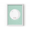 Moon Mint Poster