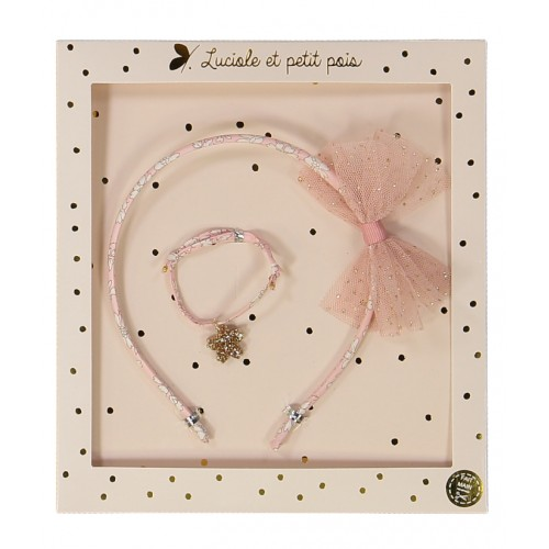 Liberty Capel Rose Hair band & Bracelet Gift Set