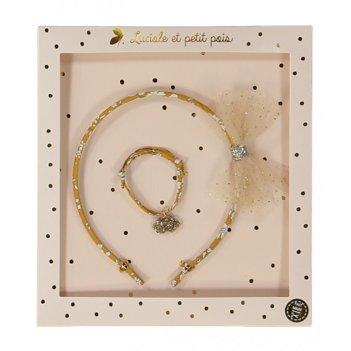 Liberty Capel Ocre Hair band & Bracelet Gift Set