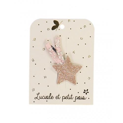 Pink Shooting Star Hair Clip