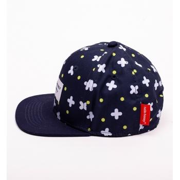 Navy & white cross Cap