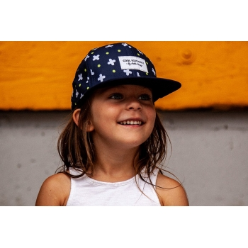 Navy & white cross Cap