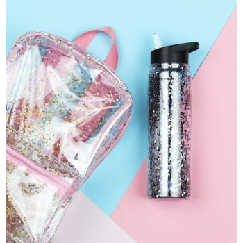 Black Glitter Drinking Bottle XL