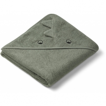Dino Augusta Hooded Towel Green