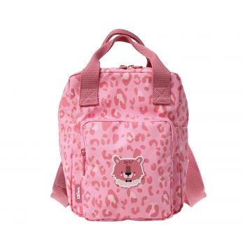 Leopard Print Small Backpack