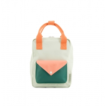 Small Mint Green / Pink Envelope Backpack