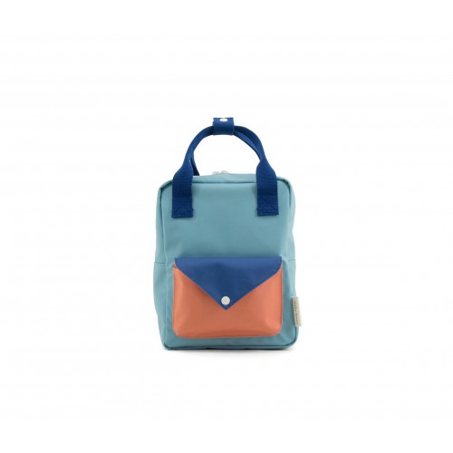 Small Denim Blue Envelope Backpack