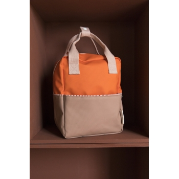 Small Orange / Chocolate / Pink Backpack