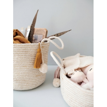 Doll Rope Basket Mauve