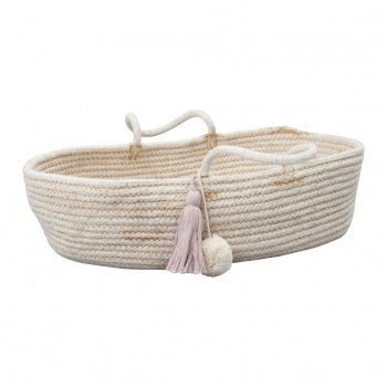 Doll Rope Basket Mauve